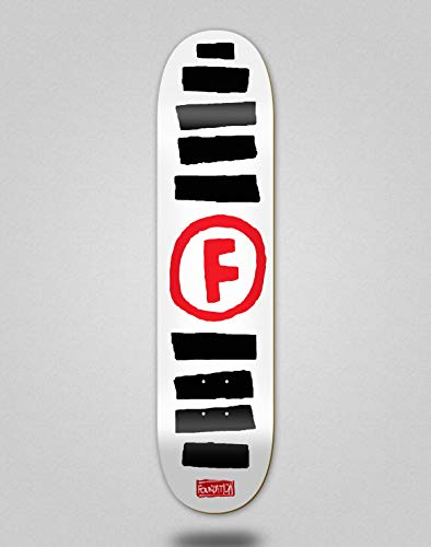 Foundation Skateboard Deck Doodle Stripe White 8.5