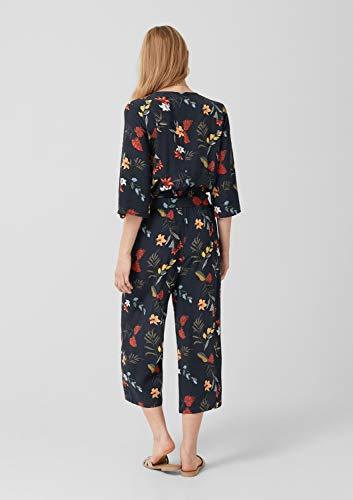 s.Oliver RED Label Damen Crêpe-Jumpsuit mit floralem Print Navy AOP 36 - 5