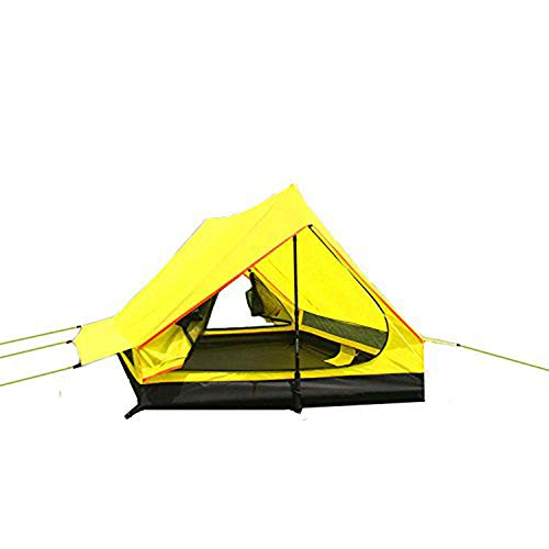 Tentock Portable Bivy Tent Easy Setup for Backpacking Cycling Outdoor Waterproof Tent Ultralight 4 Seasons(yellow)