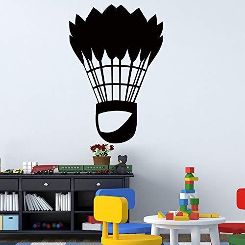 Badminton Sports Art Wandaufkleber für Wohnkultur Wohnzimmer Wanddekoration Aufkleber Aufkleber Wallpaper Murals 43X63Cm