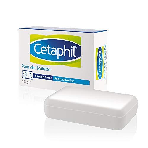 Cetaphil Pain de toilette - Jabón de alta tolerancia para pieles sensibles, 125g