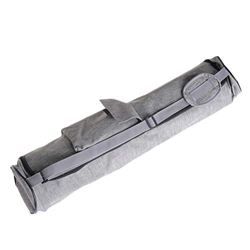 ABOOFAN Bolsa multifunción para esterilla de yoga, bolsa de fitness, bolsa de almacenamiento creativa, bolsa de gimnasio al aire libre (gris claro)