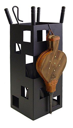 Imex El Zorro 10042 Juego para chimenea + Fuelle + útiles, cuadrado (fuelle, 50 x 20 x 20 cm), color negro, 20x20x50 cm
