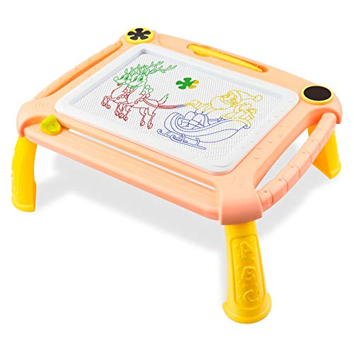 Geschenk für 2-4 Jahre alte Kinder, magnetische Zeichnung Skizze Schreibtisch für 2-4 Jahre altes Kind Spielzeug für 2-4 Jahre jungen Mädchen Kleinkinder