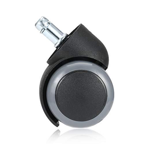 fengzong 1 STK. Gummi Haltbar 360 Grad drehbar rollend drehbar Radrollen Bürocomputer Stuhl Rollen Gewindestiel (schwarz)