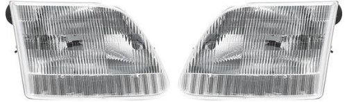 Ford Expedition Pickup Truck 97-02 Left & Right Headlights Headlamps Pair Set