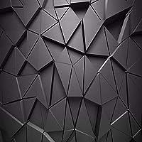 カスタム壁画壁紙3Dステレオ幾何学的な抽象的な灰色の三角形のリビングルームテレビソファベッドルームの背景の装飾-200x140cm