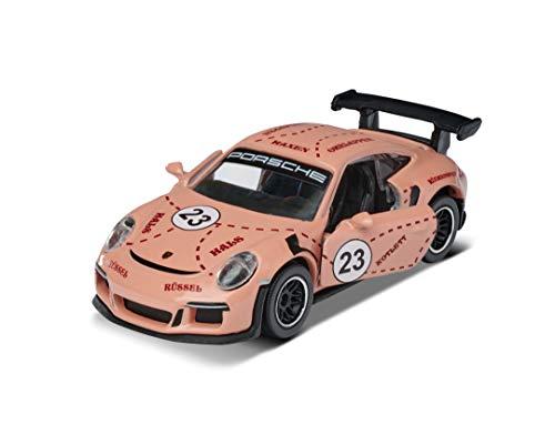 Majorette 212053057Q01 Premium Porsche 911 GT3 RS - Coche de Juguete con Rueda Libre, Piezas de Apertura, 1:64, 7,5 cm, Color Rosa, para niños a Partir de 3 años