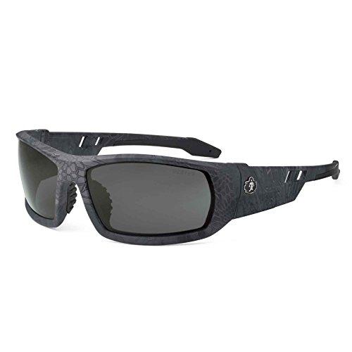 Skullerz Odin Anti-Fog Safety Sunglasses - Kryptek Typhon Frame, Smoke Lens