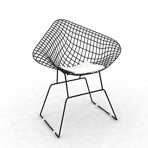 BAR STOOL Zaixi Yingui Hollow Wire Chair, Chaise de Travail Moderne en Fer forgé, Or 85cm de Haut (Couleur : Noir)