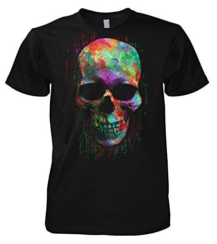 Chameleon Clothing Geek Colour Skull 702214 T-Shirt 001 XL
