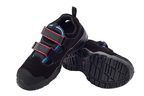 Leichte Arbeitssandale NIZO NZ010 S1 SRC Sicherheitsschuhe Schutz Stahlkappe Arbeitsschuhe Herren Damen Schuhe Sandale Gartenschuhe Herrenschuhe Damenschuhe Unisex (45 EU)