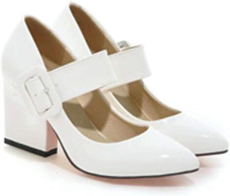 SusanY High Heels shoes Women Thick High Heel Pumps Autumn Fall Footwear