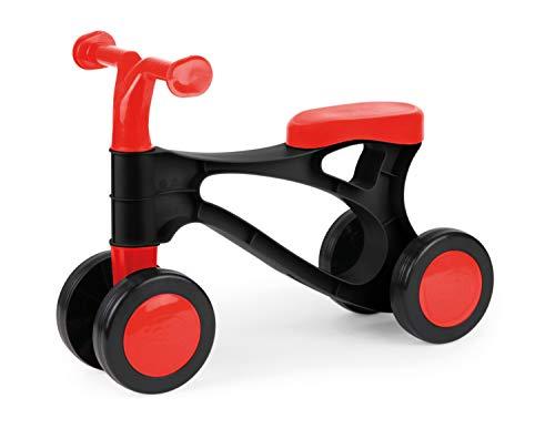 Lena 07161 Fahrrad My First Scooter, Laufrad in rot und schwarz, Sitzroller mit Stahlachsen, Lauflernrad zum Balance und Laufen trainieren, Lauflernhilfe für Kleinkinder ab 18m, Unisex