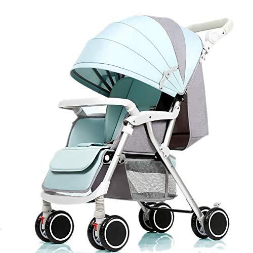 Poussettes Bébé, Poids léger Pliable 4 * 2 Roues Suspendu Chariot de bébé Nouveau-né Chariot Poussoir réglable en Hauteur