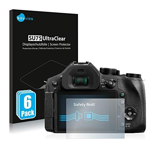 savvies Protector Pantalla Compatible con Panasonic Lumix DMC-FZ300 (6 Unidades) Película Ultra Transparente