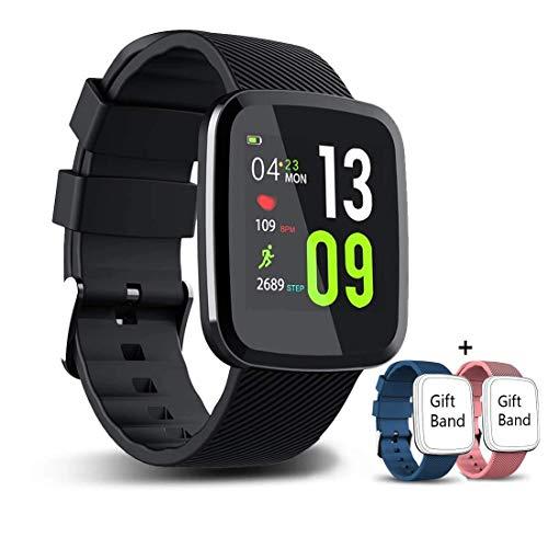 EUMI Smartwatch Orologio Intelligente con IP67 Braccialetto Attività Batteria 10-15 giorni 1.3 '' Colore 8 Modalità Sport 8.5mm Spessore Cronometro Contapassi Monitoraggio calorie e sonno iOS Andriod