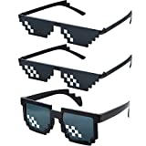 3 Pares Gafas de Sol de Píxel de Matón Indiferente de Plástico Accesprios de Fiesta par...