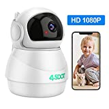 WiFi 1080P Camera, Kids Monitor Camera, 360 Degree IP Security Camera PTZ with Cloud Service,3D Image Touch Navigation, Panoramic View Night Vision,Two-Way Audio,Motion Detection for Elder Baby Pet