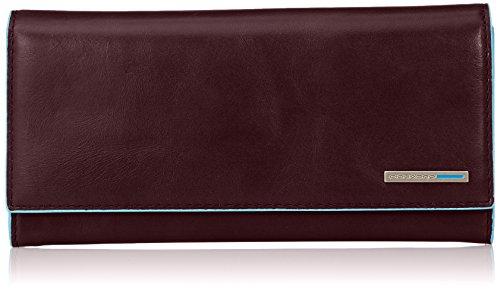 Piquadro Flap Over Damen Geldbörse aus Leder mit Zwei Zwickeln Münzfach, Mahagoni (Braun) - PD3211B2/MO