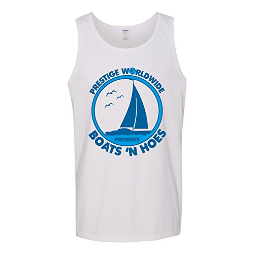 UGP Campus Apparel Prestige Worldwide Presents Boats 'n Hoes - Funny Summer Tank Top - X-Large - White