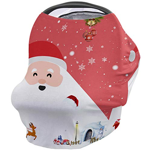 Lowest Prices! Nursing Breastfeeding Cover Car Seat Canopy for Baby Santa Claus and Snow House Ultra...