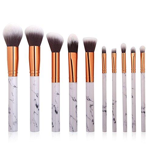 Drawihi Kit De Pinceau Maquillage Professionnel,10 Pcs/Set,Pour La Beauté Des Filles, Le Maquillage,Blanc