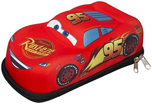Sambro DSC8-6585 Cars 3D Pencil Case Featuring Lightning McQueen Red
