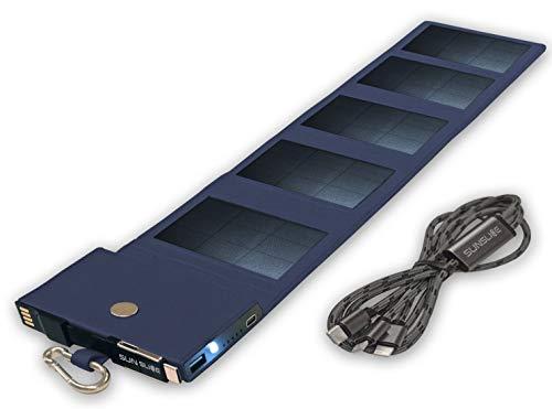 Sunslice Photon - Petit chargeur solaire performant, bleu