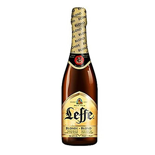 Original Belgisches Bier - Leffe Blond - obergäriges Klosterbier, 3 Flaschen 750 ml.