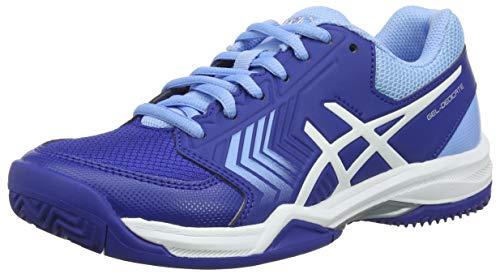 Asics Gel-Dedicate 5 Clay, Zapatillas de Tenis Mujer, Azul (Monaco Blue/White 400), 43.5 EU