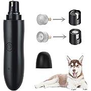 GeekerChip krallenschleifer,super-leise Lärm, Zwei-Gang-Schaltung -Geschwindigkeit, Nagelschleifer mit 2 Schleifscheiben,Krallenpflege für Hunde, Katzen (Schwarz)