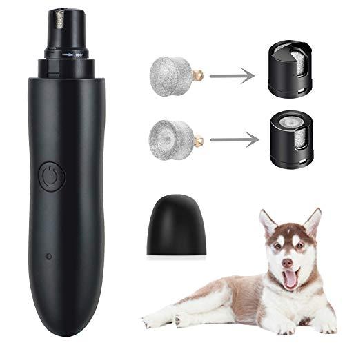 GeekerChip elektrische slijper voor de nagels van honden en katten, motor met 2 type roterende snelheden, elektrische nagelklemmen met USB opladen
