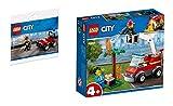 Steinchenwelt Lego® City - Juego de 2 cochecitos de bomberos 30361 + 60212 para barbacoas