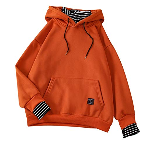 Best Price Tronet Sweatshirts for Women Pullover,Lady Fashion Autumn Hooded Fake 2 Piece Stripe Top ...