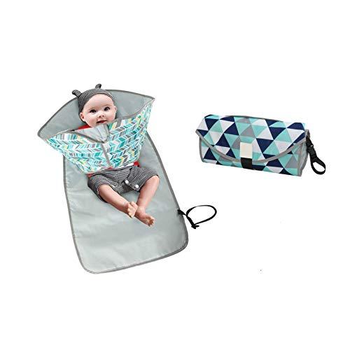 GXWBH Cambiador de pañales portátil, impermeable, lavable y lavable para niños y niñas (color: C)