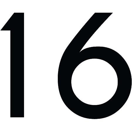 Zahlenaufkleber Nummer 16 Schwarz 10cm 100mm Hoch Aufkleber Mit Zahlen In Vielen Farben Höhen Wetterfest Küche Haushalt