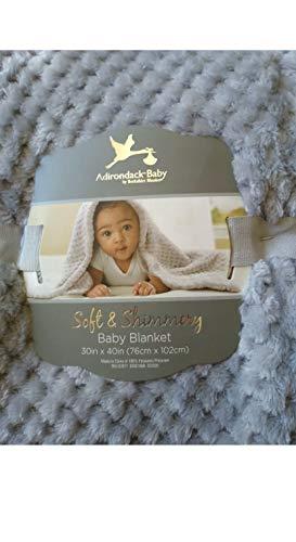 """Adirondack Baby Soft & Shimmery 30""""x40"""" Blanket (Grey)"""