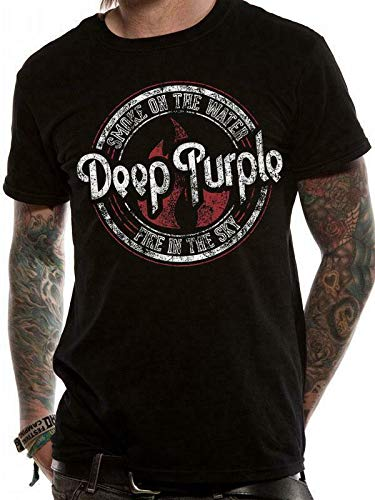 Deep Purple Smoke On The Water T Shirt Fire In The Sky M L