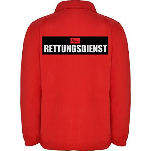 Rettungsdienst Herren Fleece Jacke Jacket Pullover Full Zip L17 red (XXL)