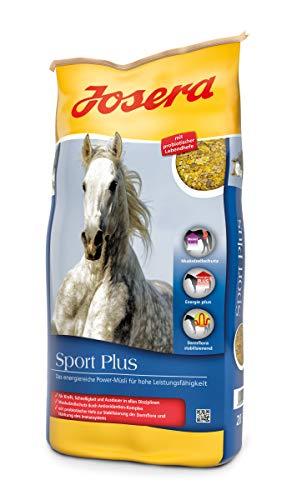 JOSERA Sport Plus (1 x 20 kg) | Premium Pferdefutter für Sportpferde | haferfrei | energiereiches Power-Müsli für Pferde in schwerer Arbeit | 1er Pack