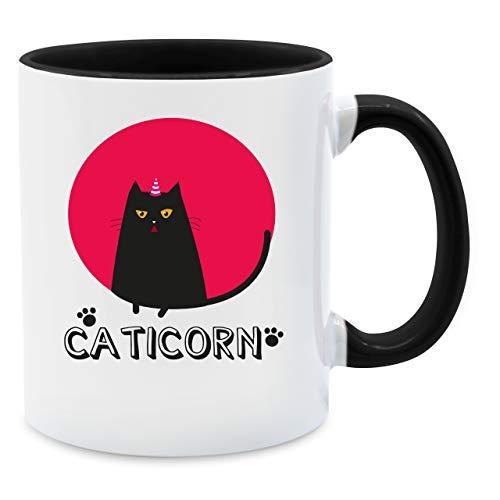 Statement Tasse - Caticorn - Unisize - Schwarz - caticorn tasse - Q9061 - Kaffee-Tasse inkl. Geschenk-Verpackung