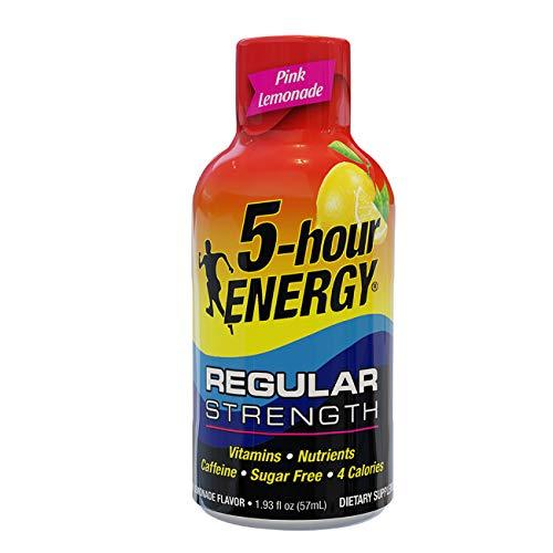 5-hour ENERGY, Regular Strength Pink Lemonade, 1.93 ounce, 24 count