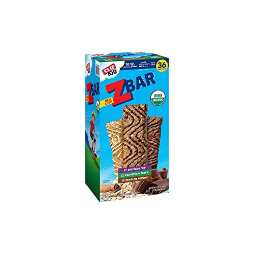 Clif Kid Zbar, Iced Oatmeal, Brownie, Chocolate Chip (1.27 Ounce, 36 Count)