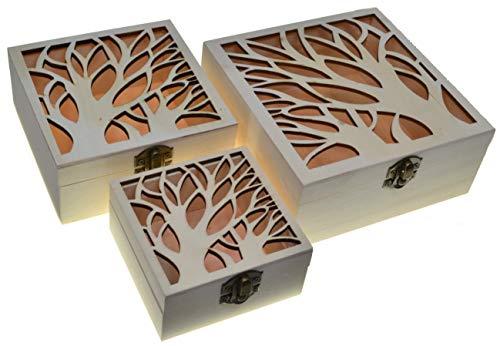 JB13 3 cajas cuadradas Cajas nido Cofre del tesoro (3 paquetes) Caja...