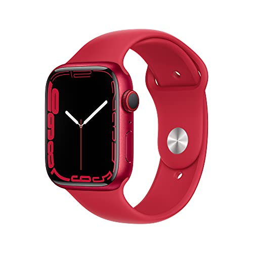 Apple Watch Series 7 GPS + Cellular, 45mm (Product) RED Aluminum Case with (Product) RED Sport Band - Regular