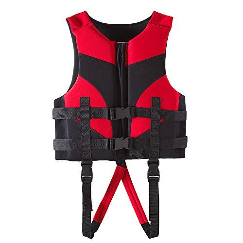 Hpory Chaleco salvavidas para niños de 3 a 12 años, para buceo, buceo, natación, neopreno, chaqueta para niños pequeños, 12 kg a 35 kg