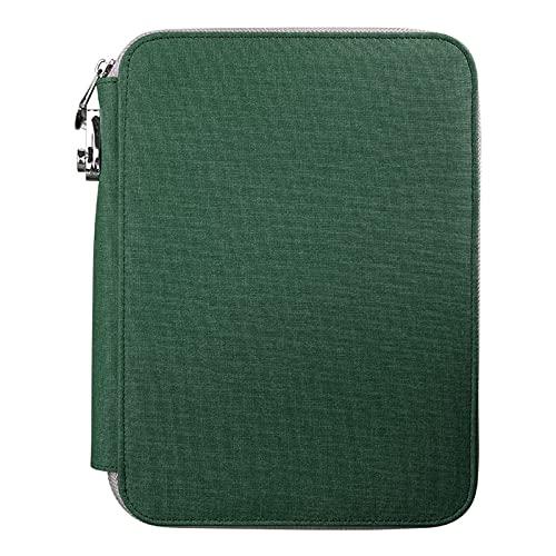 Cuaderno de cuero de la PU cuaderno de negocios cuaderno de hojas sueltas con cierre de cremallera viajeros manual cuaderno B5 College Ruled cuadernos