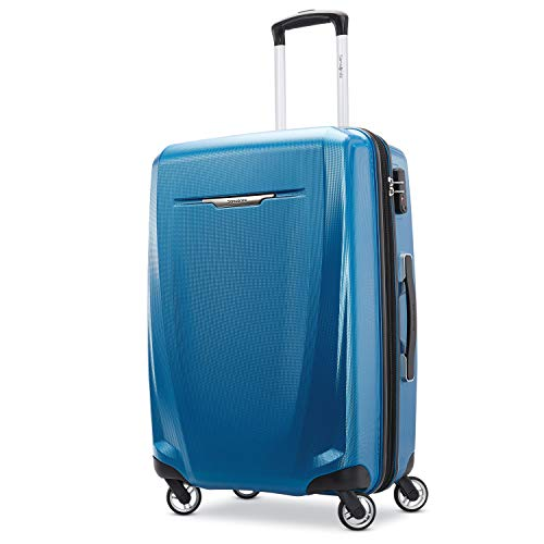 Samsonite Winfield 3 DLX Hardside Expandable Luggage with Spinners, Blue/Navy