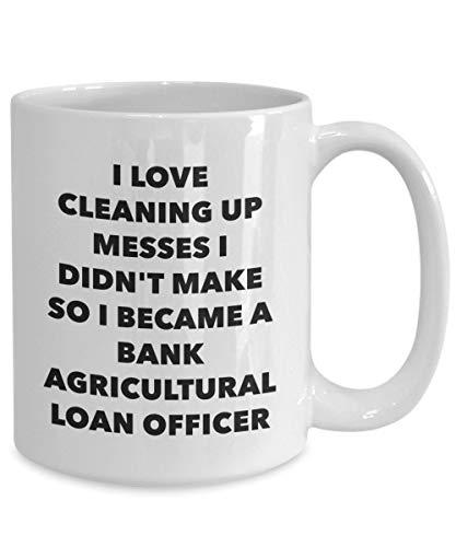 DKISEE Ik werd een Bank Landbouw Lening Officer Mok - Witte Koffiebeker - Bank Landbouw Lening Officer Geschenken - Grappige Nieuwigheid Verjaardag Present Idee 15oz Kleur: wit